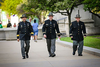 photo of sheriff officers walking outside